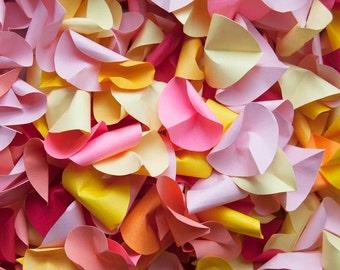 Multicolor Paper Rose Petals