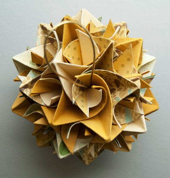 Origami Paper Star Ball: Honey Mustard Mix
