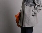 Lovely elegant ink printing woolen coat