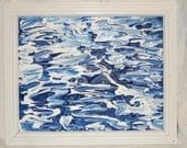 The Water Original Abstract Acrylic Painting Framed and Signed by Christine Bruness at The Blue Hours