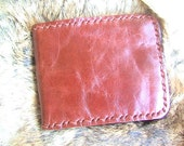 Leather  Wallet in red brown