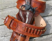 Western Gun Belt and Double Loop Holster