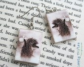 "Earrings ""Hedgehog in the Fog"" - surgical steel hooks - MADE TO ORDER"