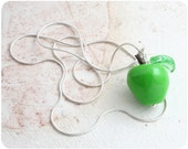 Green Apple pendant - Sterling Silver 925 - MADE TO ORDER
