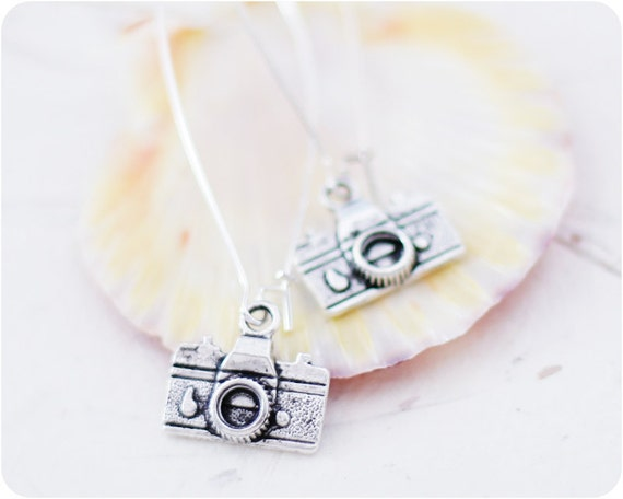 "ON SALE 20% OFF Earrings ""Lomo camera"" - collection Journalism - ready to ship"