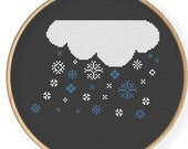 Instant Download,Free shipping ,Cross stitch pattern, Cross-StitchPDF,It's snow,ZXXC0025