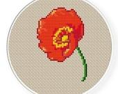 INSTANT DOWNLOAD,Free shipping,Cross stitch pattern, PDF,flower poppy,zxxc0064