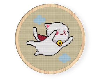 Instant download,free shipping,Counted Cross stitch pattern,Cross-Stitch PDF,super Cat, zxxc0013