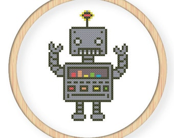 Instant Download,Free shipping,Cross stitch pattern, Crossstitch PDF,music robot,zxxc0028
