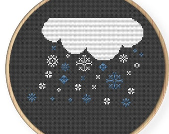 Instant Download,Free shipping ,Cross stitch pattern, Cross-StitchPDF,It's snow,ZXXC0025