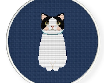 Instant download,free shipping,Cross stitch pattern, Cross-StitchPDF, cute cat,zxxc0051