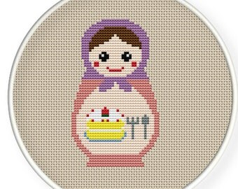 Instant download,free shipping,Cross stitch pattern, Cross-StitchPDF,Russian Doll ,Matryoshka  Babushkas,zxxc0122