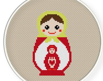 Instant Download,Free shipping,Cross stitch pattern, Cross-StitchPDF,Russian Doll,Matryoshka  Babushkas,zxxc0140
