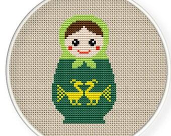 Instant download,free shipping,Cross stitch pattern, Cross-StitchPDF,Russian Doll,Matryoshka  Babushkas,zxxc0141