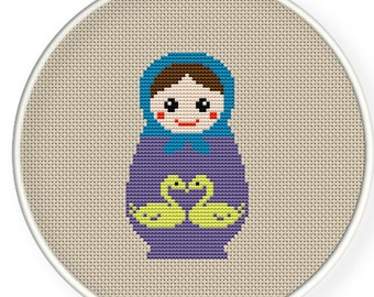 Instant download,free shipping,Cross stitch pattern, Cross-StitchPDF,Russian Doll,Matryoshka  Babushkas,zxxc0142