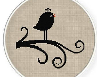 INSTANT DOWNLOAD,Free shipping,Cross stitch pattern, PDF,bird,ZXXC0165