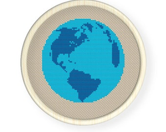 Instant Download,Free shipping,Cross stitch pattern, PDF,The earth  ,ZXXC0169