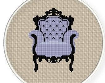 Instant Download,Free shipping,Cross stitch pattern, Cross-StitchPDF, pattern design ,Chair ,zxxc0179