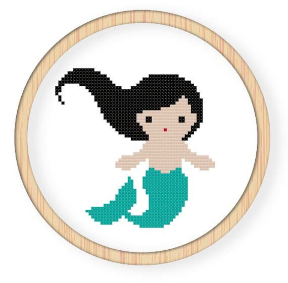 Instant Download,Free shipping,Counted Cross stitch pattern,Cross-Stitch PDF,mermaid,zxxc0078