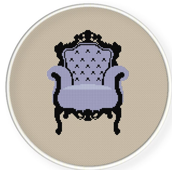 Instant Download,Free shipping,Cross stitch pattern, Cross-StitchPDF, pattern design ,Chair ,zxxc0179