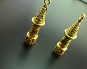 2 PCS Brass Galata Tower Shaped  Charms Pendant