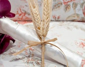 Rustic Wheat Boutonniere