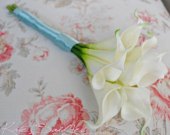 Ivory Calla Lily Real Touch Wedding Bouquet