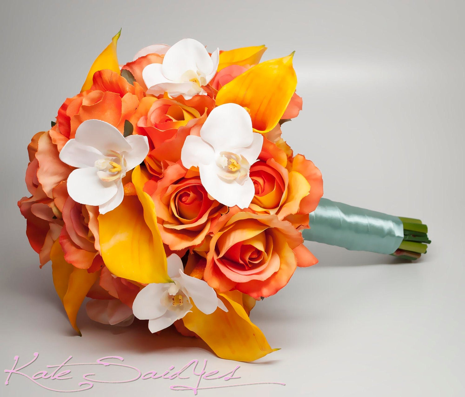 Wedding Bouquets Orange Items Similar To Bouquet Burnt Rose Calla