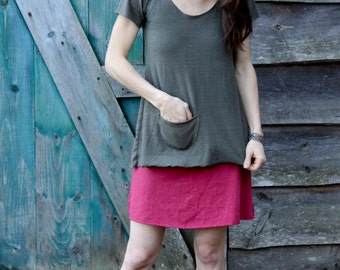 Organic Hemp and Cotton Swing Top- Short Sleeve
