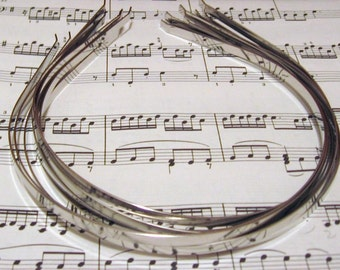 Wholesale Lot Set 5mm Silver Tone Metal Headbands -Hair Bands- Child Hairbands- Headbands, Head Bands