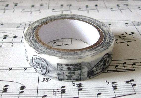 Japanese Washi Masking Tape. mt masking tape, pretty washi tape,Postal Stamps Chops Travel