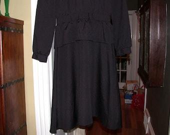 Vintage Coco Petites California Black Dress High Collar