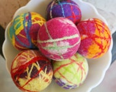HOLIDAY scented dryer balls- BRIGHTS, Vanilla Christmint.. set of 3
