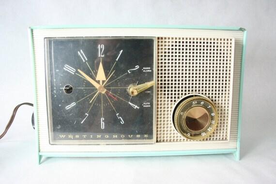 RESERVED  - Aqua Westinghouse Clock Radio