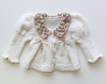 Off-white adorable baby girl sweater