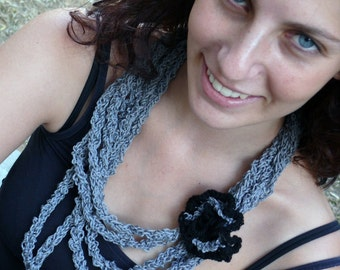 IT'S A GREY DAY BUT I'M HAPPY knitted necklace