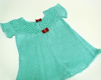 Sweet turquoise baby tunic