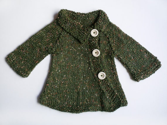 FOREST knitted coat for a girl