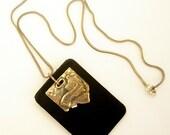 Mens Leather Sterling Silver Jerusalem Necklace