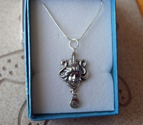 Greek Godess Pendant with Sterling Silver Chain _ October Special!