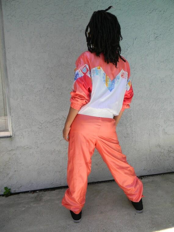 80s/90s Hip Hop House Party // Vintage 80s/90s Hip Hop/Hype MC Hammer Windbreaker Bomber Jacket/Parachute Pants Set - Pantsuit Set