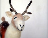 Harald - Felt Spotted Deer, Art Puppet, Marionette. Felted, Stuffed Toy.  MADE TO ORDER