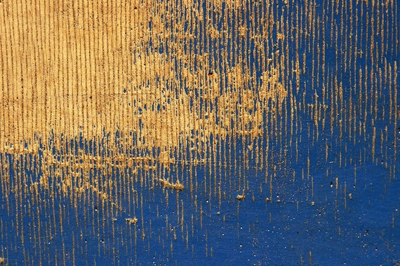 Modern Abstract Print on Canvas in Blue 15.7x23.6
