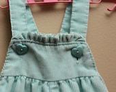 Vintage Girl Blue Corduroy Overalls -- 12 Months