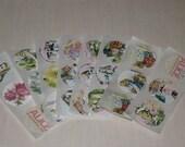 Alice In Wonderland Vintage Round Stickers Seals Vintage Embellishments