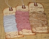 Vintage Seam Binding Hand Dyed and Hand Crinkled Ooh La La so Paris