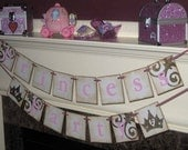 Young Marie Antoinette Princess Party Double Banner Garland Vintage Sign Fairy Tale Party