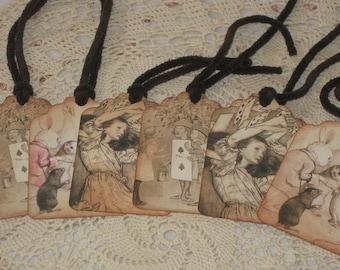 Alice in Wonderland Vintage Gift Tags