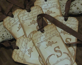 Personalized Vintage Gift Tags with a French Flair