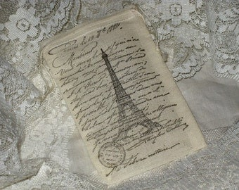 Custom listing for Lawrence Vintage Paris Key French Script Muslin Gift Pouches